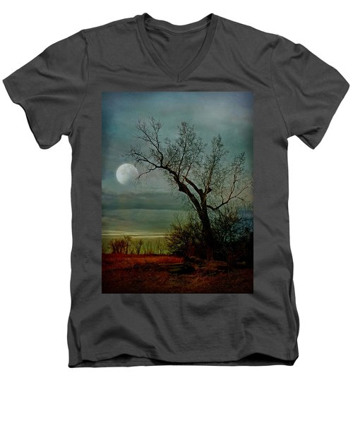 Winter Moon Men's V-Neck T-Shirt
