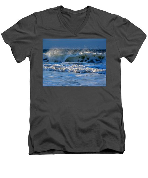 Winter Ocean At Nauset Light Beach Men's V-Neck T-Shirt
