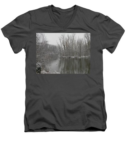Winter Reflections 1 Men's V-Neck T-Shirt by Mark Minier