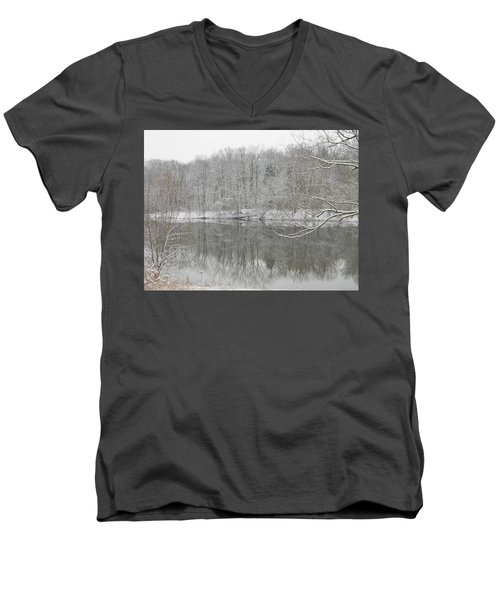 Winter Reflections 2 Men's V-Neck T-Shirt by Mark Minier