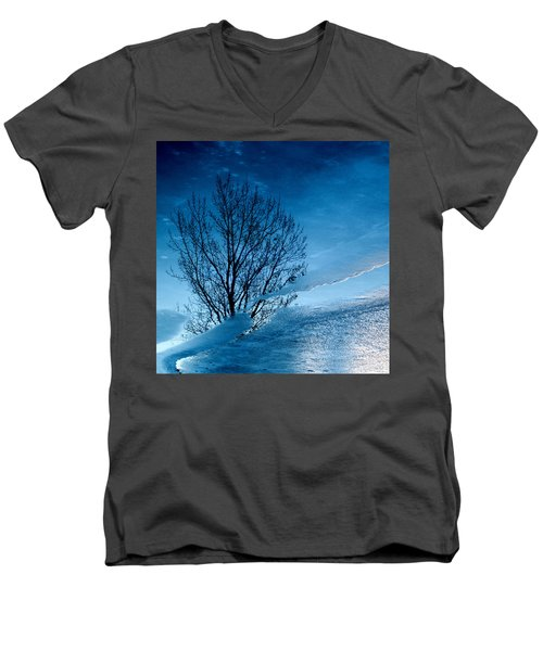 Winter Reflections Men's V-Neck T-Shirt by Don Spenner