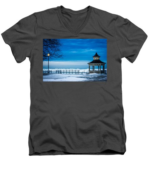 Winter Rhapsody Men's V-Neck T-Shirt by Sara Frank