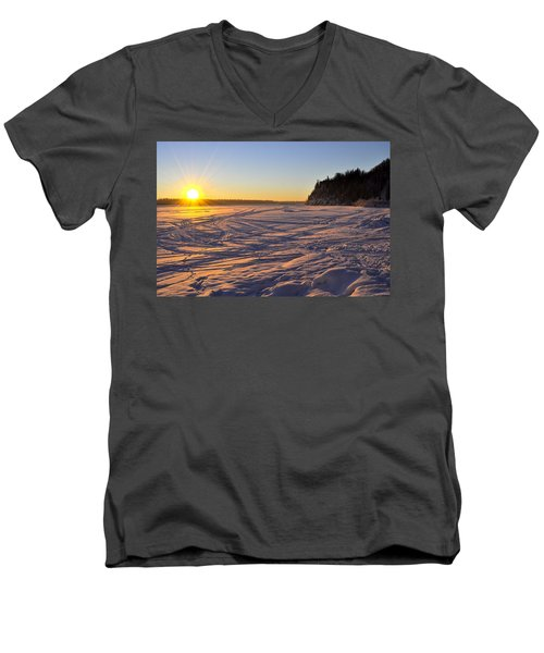 Winter Solstice Men's V-Neck T-Shirt by Cathy Mahnke