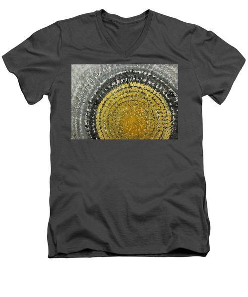 Winter Sun Original Painting Men's V-Neck T-Shirt by Sol Luckman