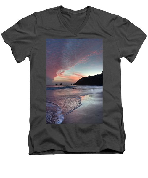 Winter Sunset Crescent Bay Men's V-Neck T-Shirt