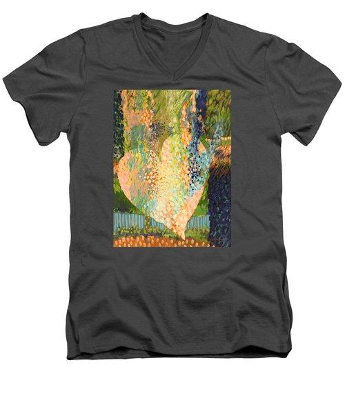 Winter To Spring Men's V-Neck T-Shirt by Lynda Hoffman-Snodgrass