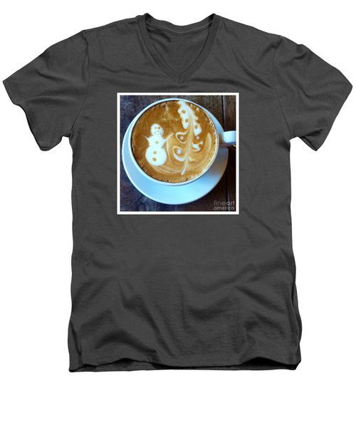 Winter Warmth Latte Men's V-Neck T-Shirt