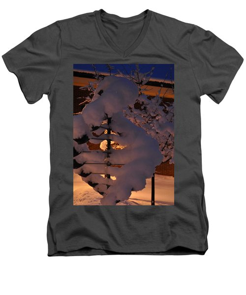 Winter Whirligig Men's V-Neck T-Shirt by Jim Brage