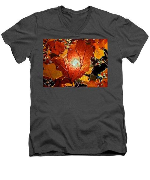 winters autumn in Pasadena Men's V-Neck T-Shirt