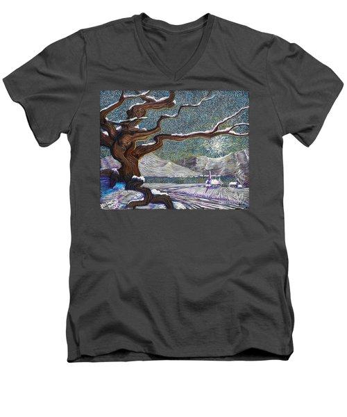 Winter's Day Men's V-Neck T-Shirt