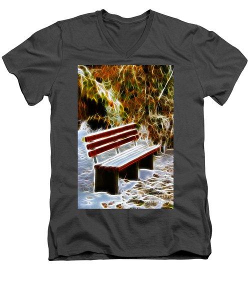 Winters Dream Men's V-Neck T-Shirt by Mariola Bitner