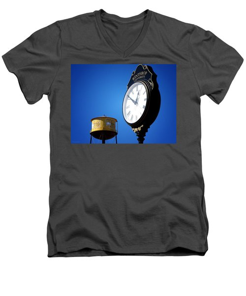 Men's V-Neck T-Shirt featuring the photograph Winthrop Time by Greg Simmons