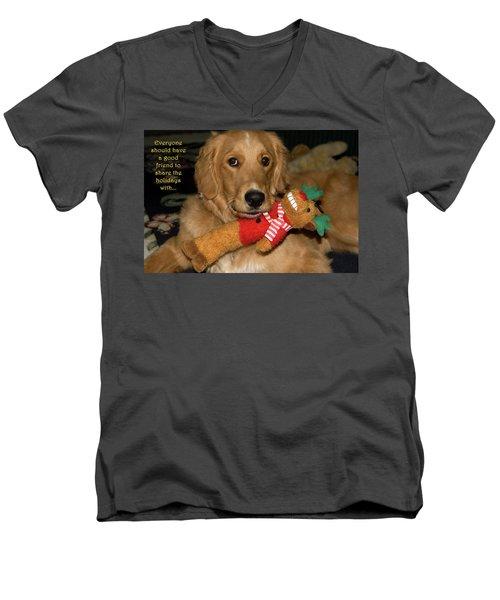 Wish For A Christmas Friend Men's V-Neck T-Shirt