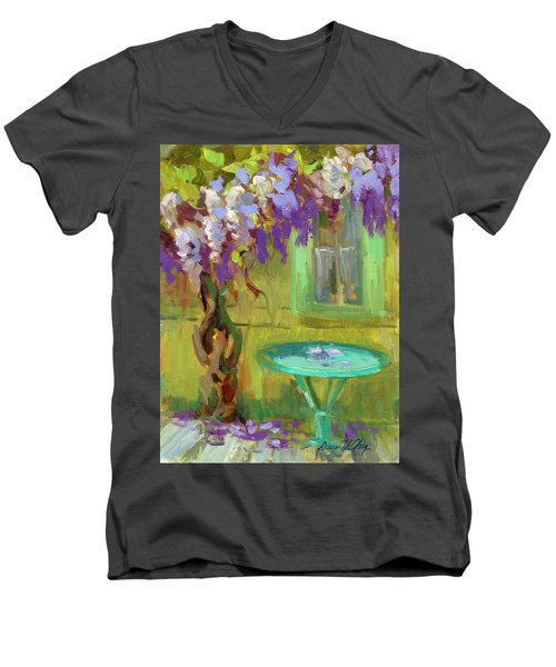 Wisteria At Hotel Baudy Men's V-Neck T-Shirt