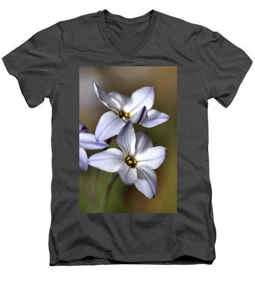 Men's V-Neck T-Shirt featuring the photograph With Company by Joy Watson