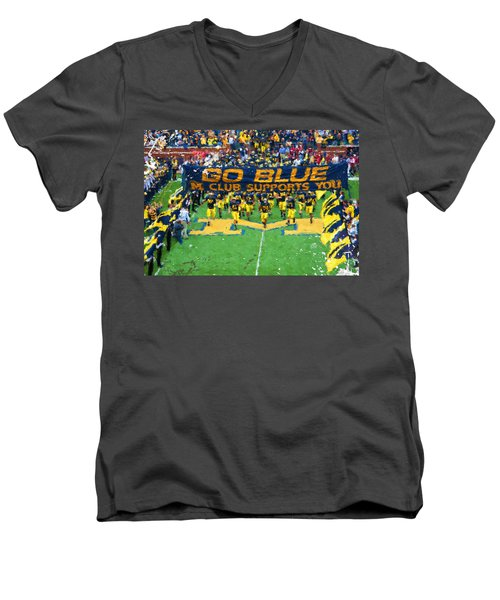 Wolverines Rebirth Men's V-Neck T-Shirt