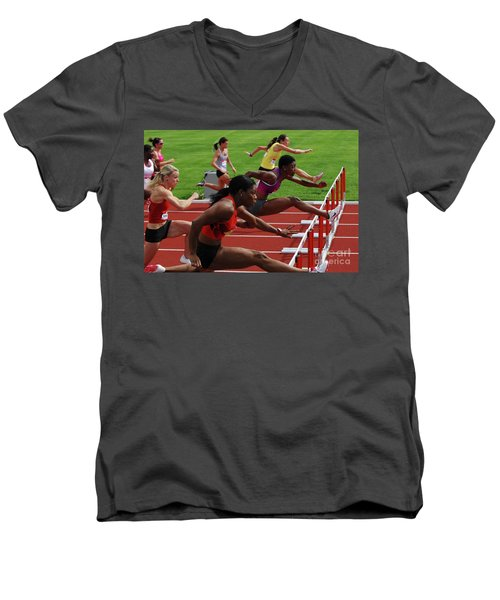Womens Hurdles 3 Men's V-Neck T-Shirt