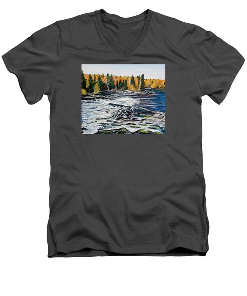 Wood Falls 2 Men's V-Neck T-Shirt