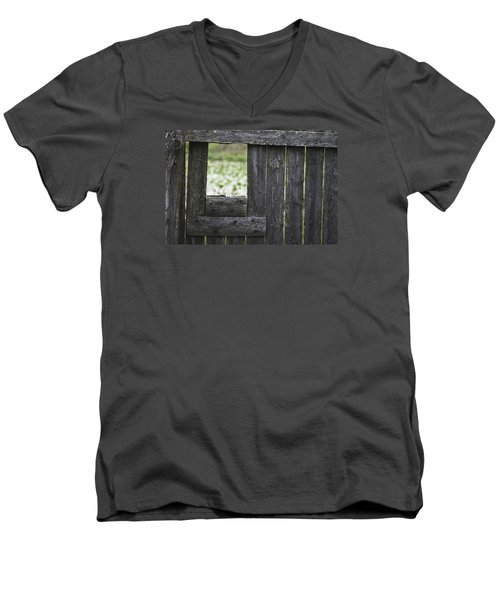 Wooden Blind Men's V-Neck T-Shirt