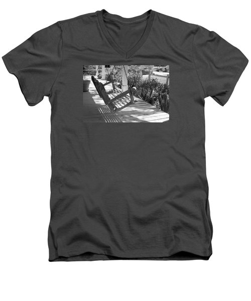 Wooden Front Porch Swing Men's V-Neck T-Shirt