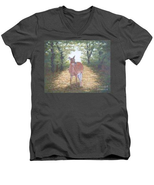 Woodland Encounter Men's V-Neck T-Shirt
