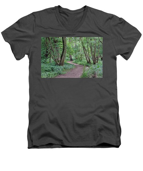 Woodland Path  Men's V-Neck T-Shirt