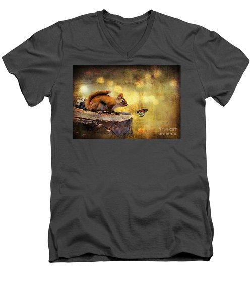 Woodland Wonder Men's V-Neck T-Shirt
