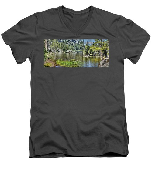 Woods Lake 2 Men's V-Neck T-Shirt