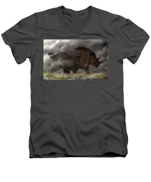 Woolly Rhinoceros Men's V-Neck T-Shirt