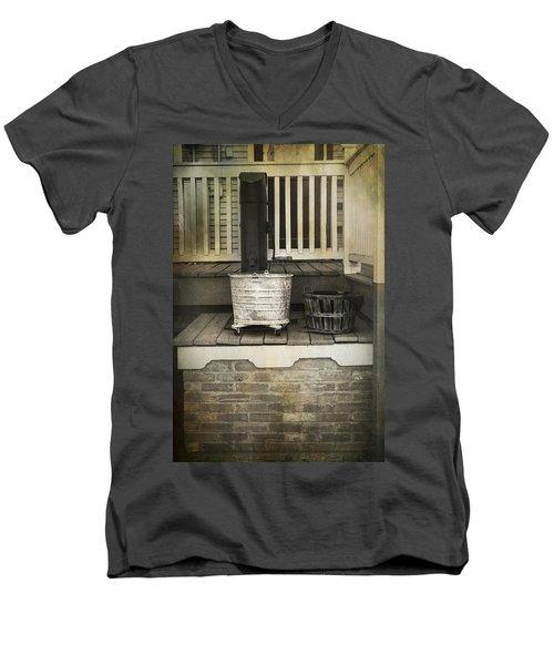 Work Is Done Men's V-Neck T-Shirt