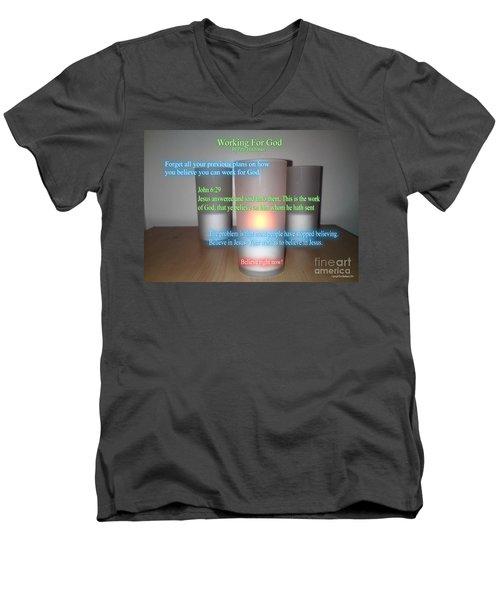 Working For God Men's V-Neck T-Shirt