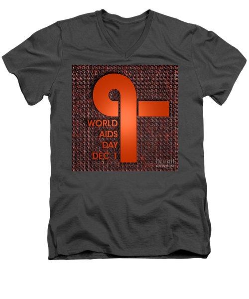 World Aids Day Men's V-Neck T-Shirt