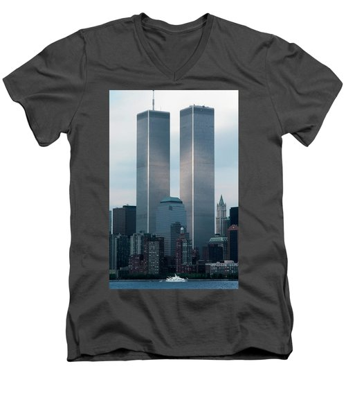 World Trade Center Men's V-Neck T-Shirt