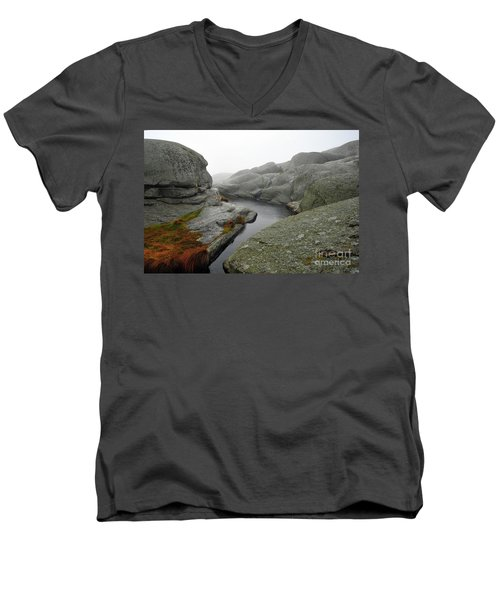World's End 1 Men's V-Neck T-Shirt by Randi Grace Nilsberg