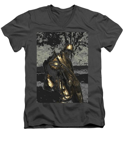 Worth Their Weight In Gold Men's V-Neck T-Shirt by Natalie Ortiz