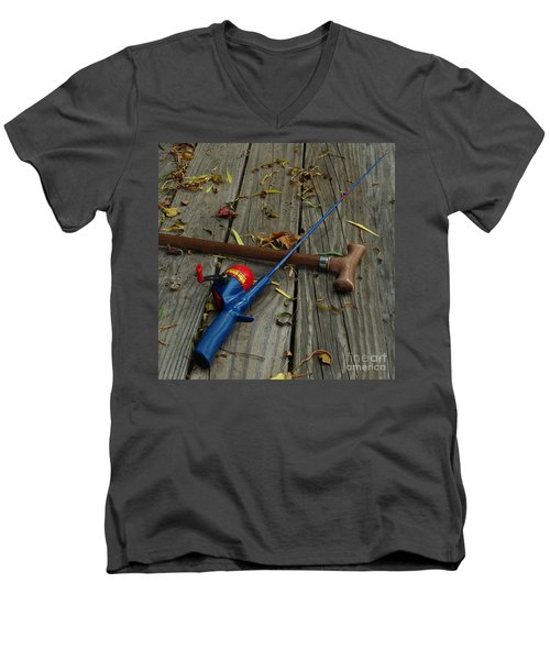 Men's V-Neck T-Shirt featuring the photograph Wrapped In Time by Peter Piatt