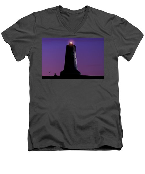 Men's V-Neck T-Shirt featuring the photograph Wright Brothers Memorial by Greg Reed