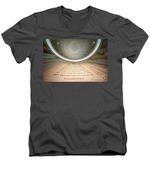 Written In Stone Men's V-Neck T-Shirt