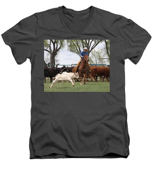 Wyoming Branding Men's V-Neck T-Shirt