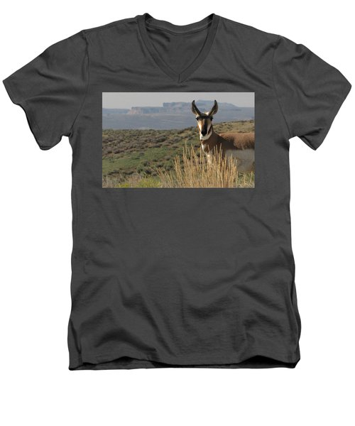 Wyoming Pronghorn Men's V-Neck T-Shirt