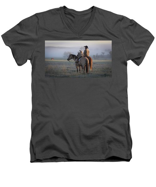 Wyoming Ranch Men's V-Neck T-Shirt