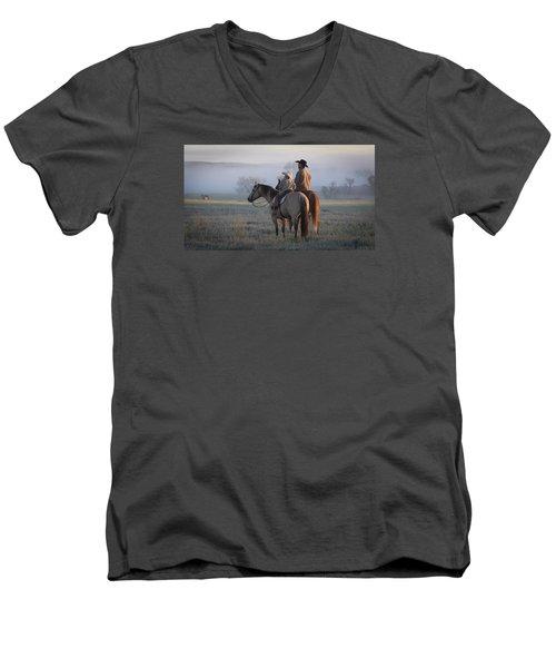Wyoming Ranch Men's V-Neck T-Shirt