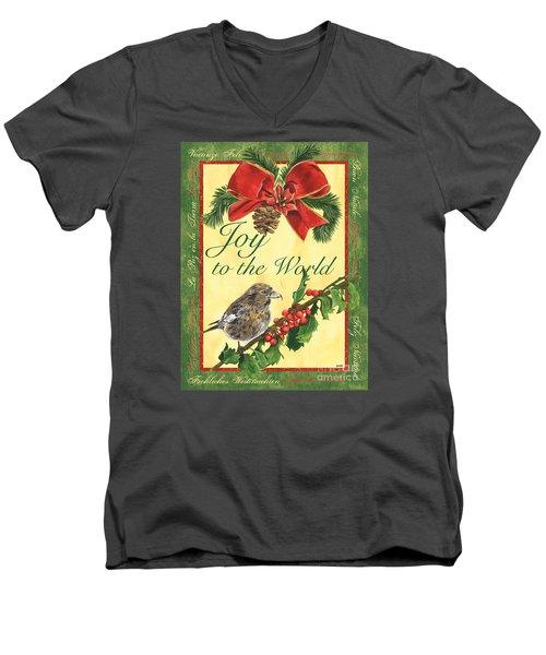 Xmas Around The World 2 Men's V-Neck T-Shirt by Debbie DeWitt