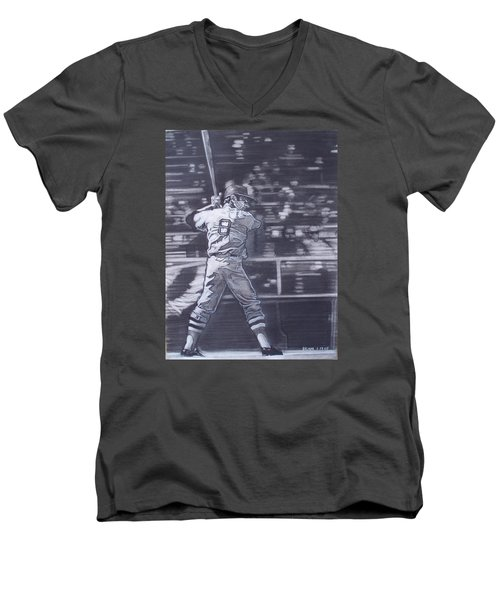 Yaz - Carl Yastrzemski Men's V-Neck T-Shirt by Sean Connolly