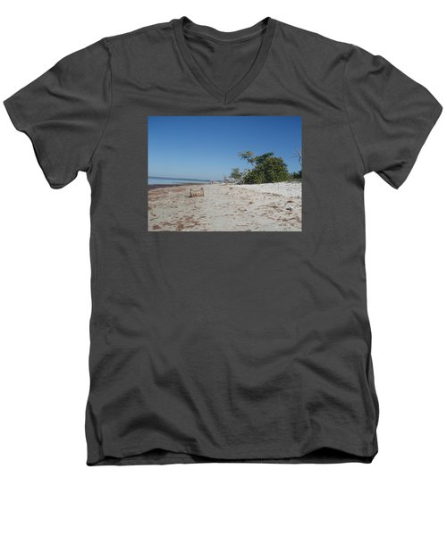 Men's V-Neck T-Shirt featuring the photograph Ye Olde Pirates Chest by Robert Nickologianis