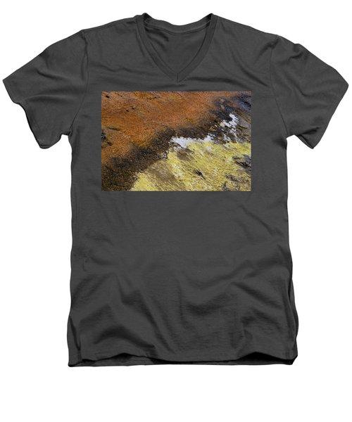 Yellow And Orange Converging Men's V-Neck T-Shirt