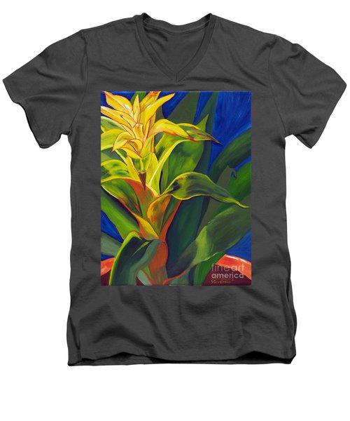 Yellow Bromeliad Men's V-Neck T-Shirt