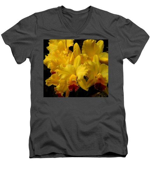 Yellow Folds Men's V-Neck T-Shirt