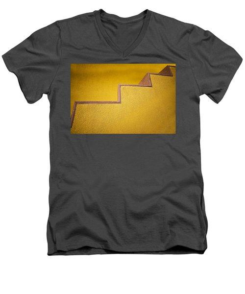 Yellow Steps Men's V-Neck T-Shirt by Melinda Ledsome