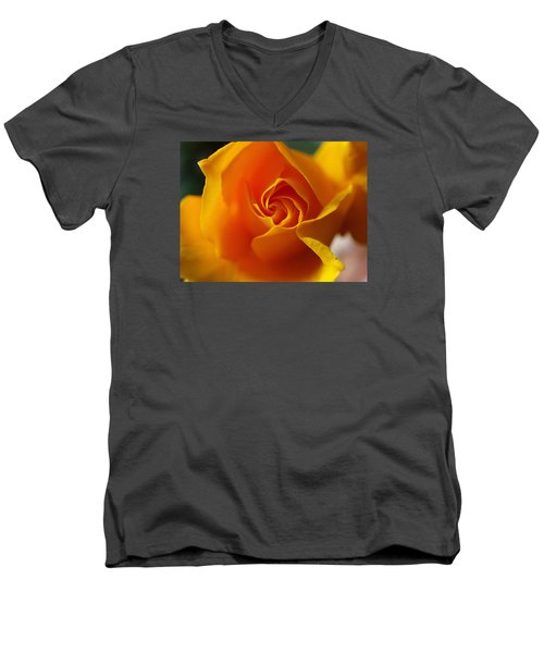 Men's V-Neck T-Shirt featuring the photograph Yellow Swirl by Joe Schofield